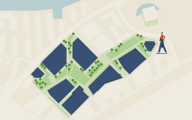 Nine Elms Park - Map